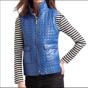 Tory Burch Quilted Puffer Vest Blue XL!